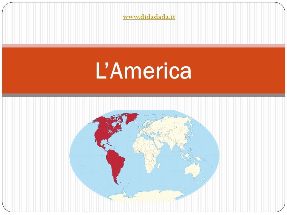 America del nord America del sud LAmerica è un grande continente suddiviso in due subcontinenti I due subcontinenti sono collegati dallistmo di Panama La Groenlandia, geograficamente parte dellAmerica del Nord, appartiene in realtà alla Danimarca