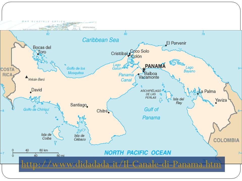 Il Canale di Panama Attraversa l istmo di Panama. Lungo 81,1 km, unisce l'Oceano Atlantico con il Pacifico. È costituito da un sistema di chiuse che p