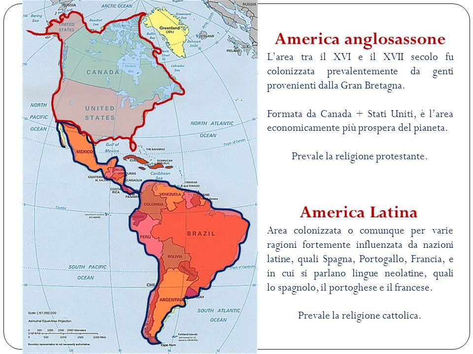 America Latina Area colonizzata o comunque per varie ragioni fortemente influenzata da nazioni latine, quali Spagna, Portogallo, Francia, e in cui si