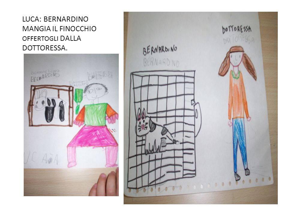 LUCA: BERNARDINO MANGIA IL FINOCCHIO OFFERTOGLI DALLA DOTTORESSA.