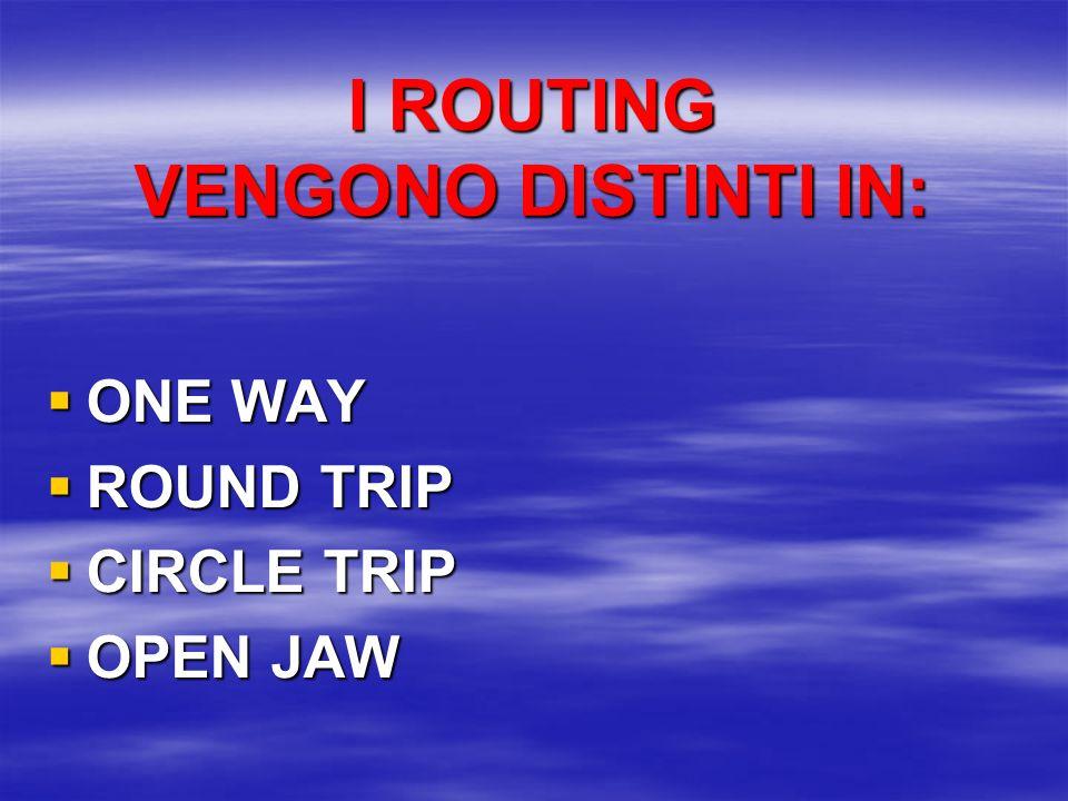 ROUTING Routing è linstradamento, la rotta, litinerario del mezzo di trasporto aereo.