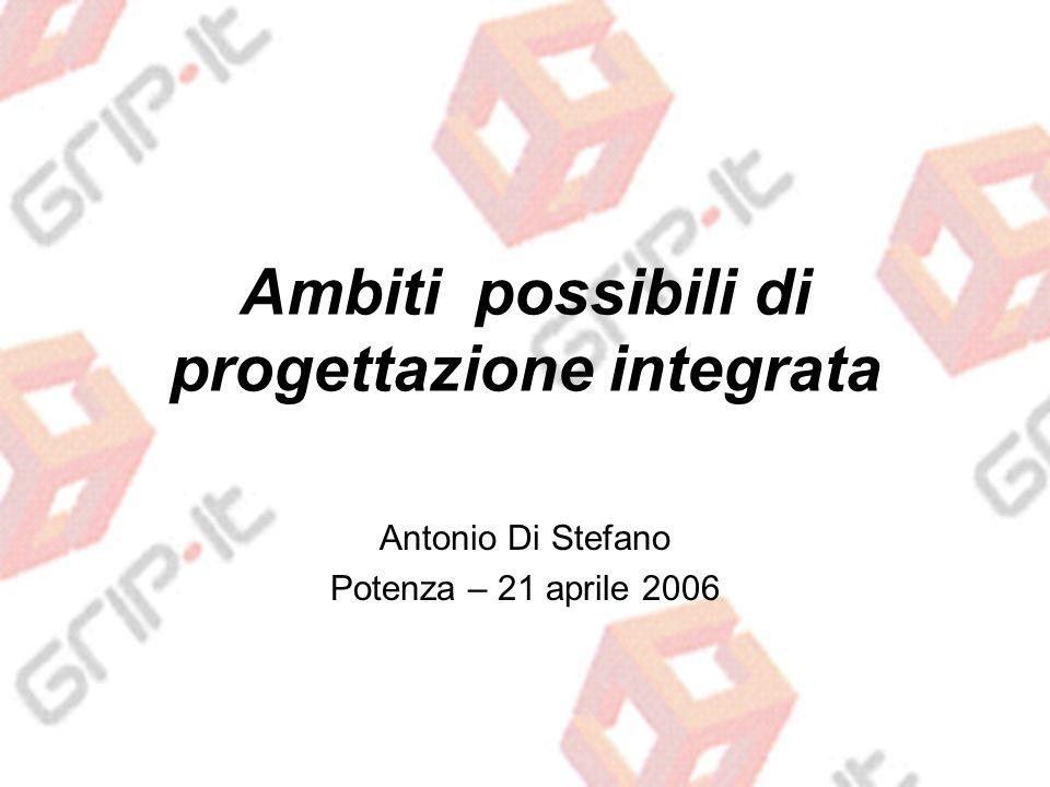 Ambiti possibili di progettazione integrata Antonio Di Stefano Potenza – 21 aprile 2006