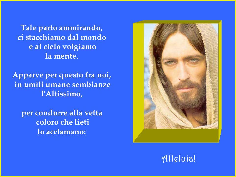 Di natura le leggi innovò il Creatore, apparendo tra noi, suoi figlioli: fiorito da grembo di Vergine, lo serba qual era da sempre, inviolato: e noi c
