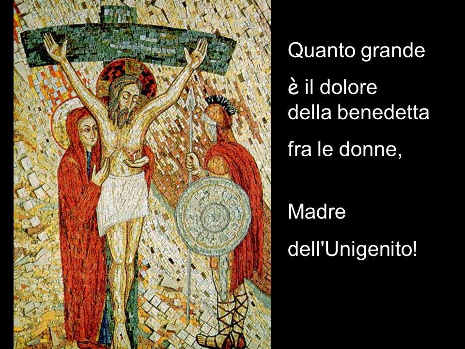 Quanto grande è il dolore della benedetta fra le donne, Madre dell Unigenito!