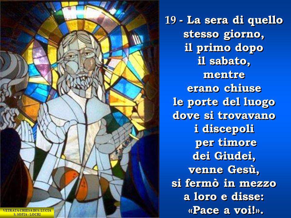 BATTISTELLO CARACCIOLO 17 - Gesù le disse: «Non mi trattenere, perché non sono ancora salito al Padre; ma và dai miei fratelli e dì loro: Io salgo al