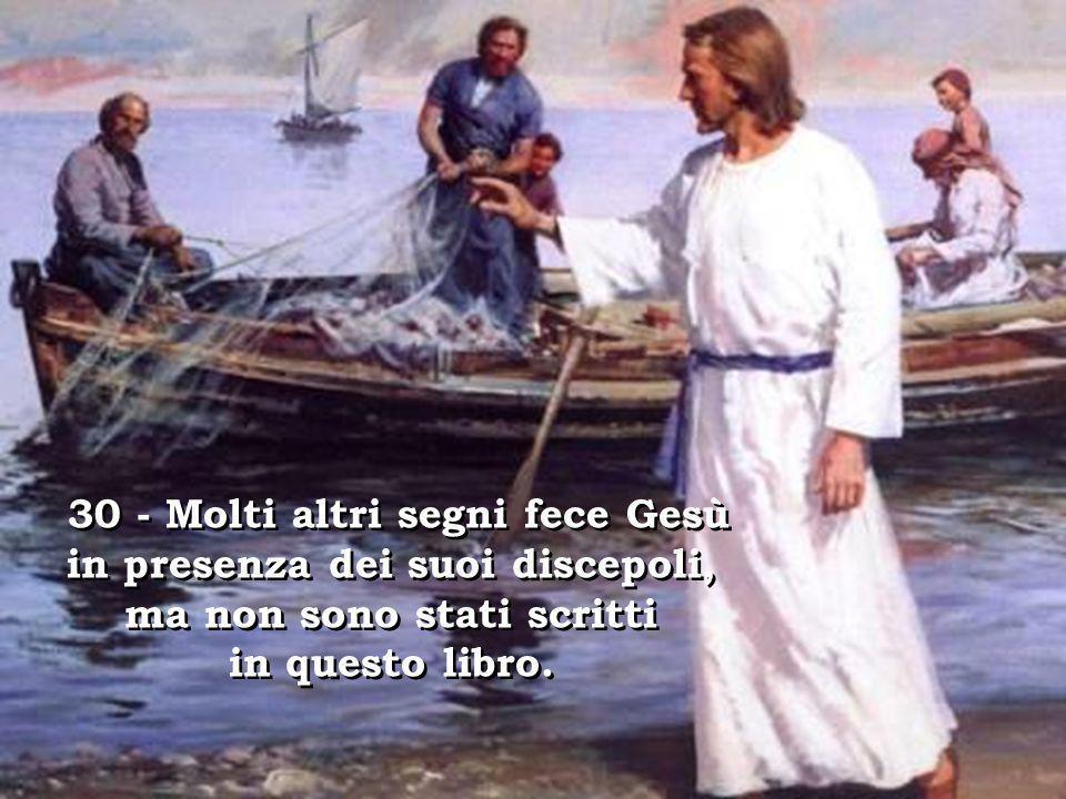 28 – Rispose Tommaso: «Mio Signore e mio Dio!». 28 – Rispose Tommaso: «Mio Signore e mio Dio!». 29 - Gesù gli disse: «Perché mi hai veduto, hai credut