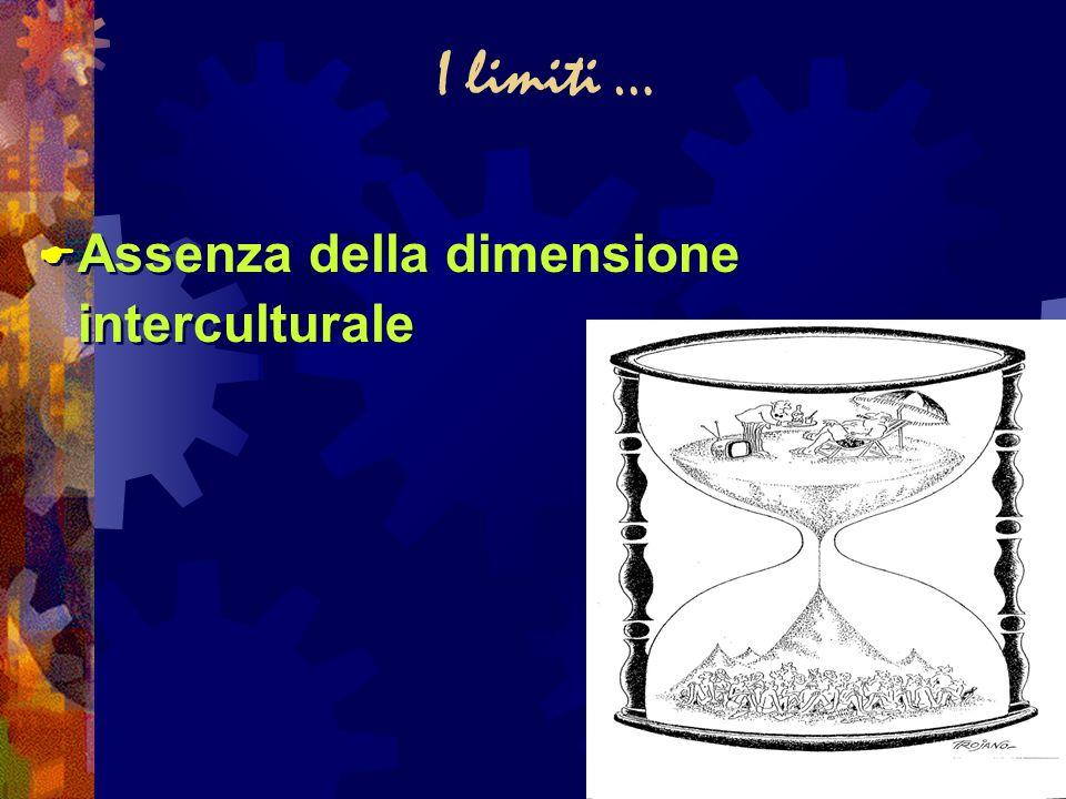 I limiti … Assenza della dimensione interculturale
