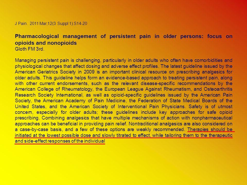 Opioids in chronic non-cancer pain.Chan BK, Tam LK, Wat CY, Chung YF, Tsui SL, Cheung CW.