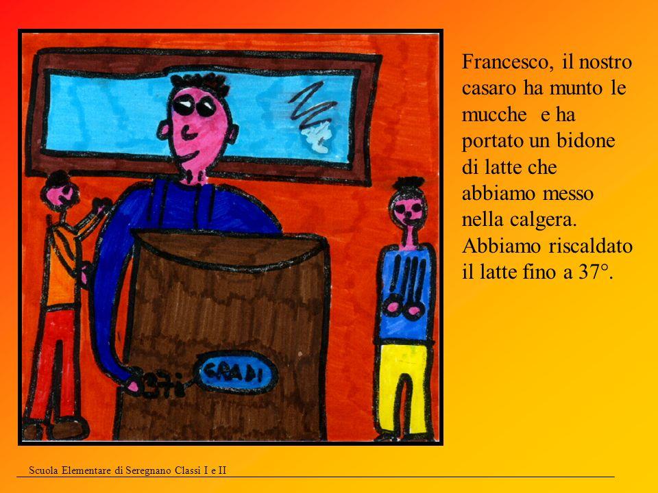 Scuola Elementare di Seregnano Classi I e II Francesco mescola lentamente.
