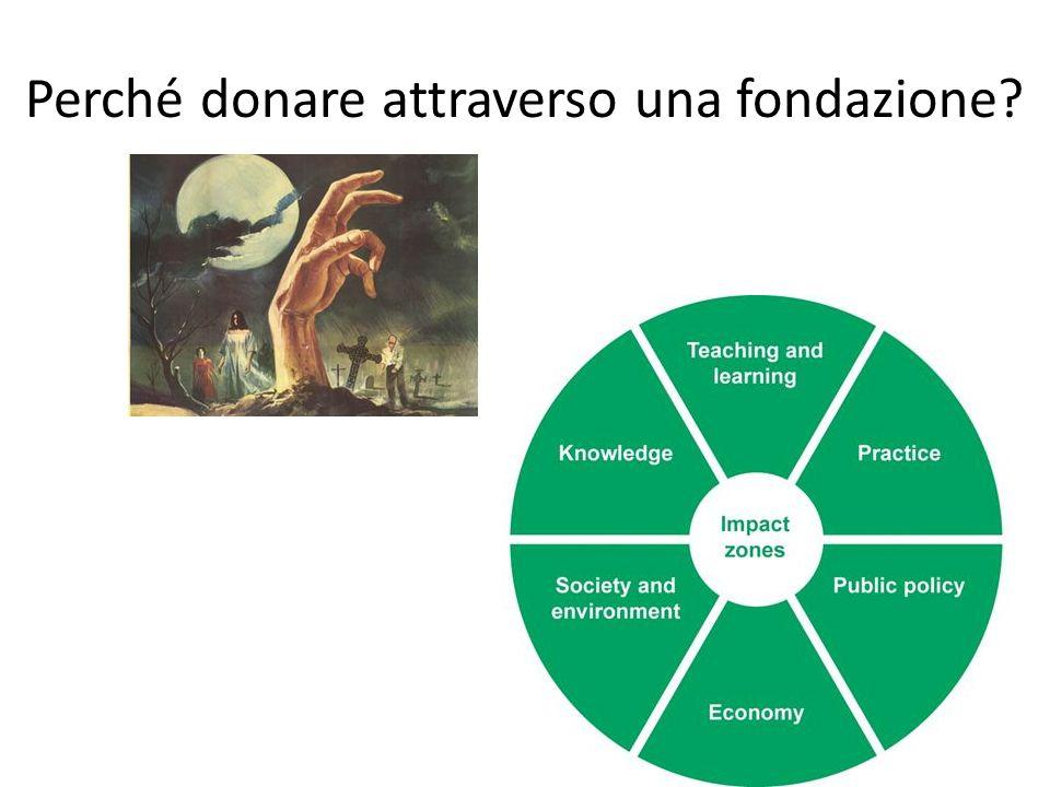 Perché donare attraverso una fondazione?