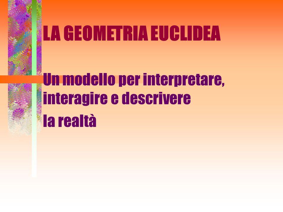 Un modello per interpretare, interagire e descrivere la realtà LA GEOMETRIA EUCLIDEA