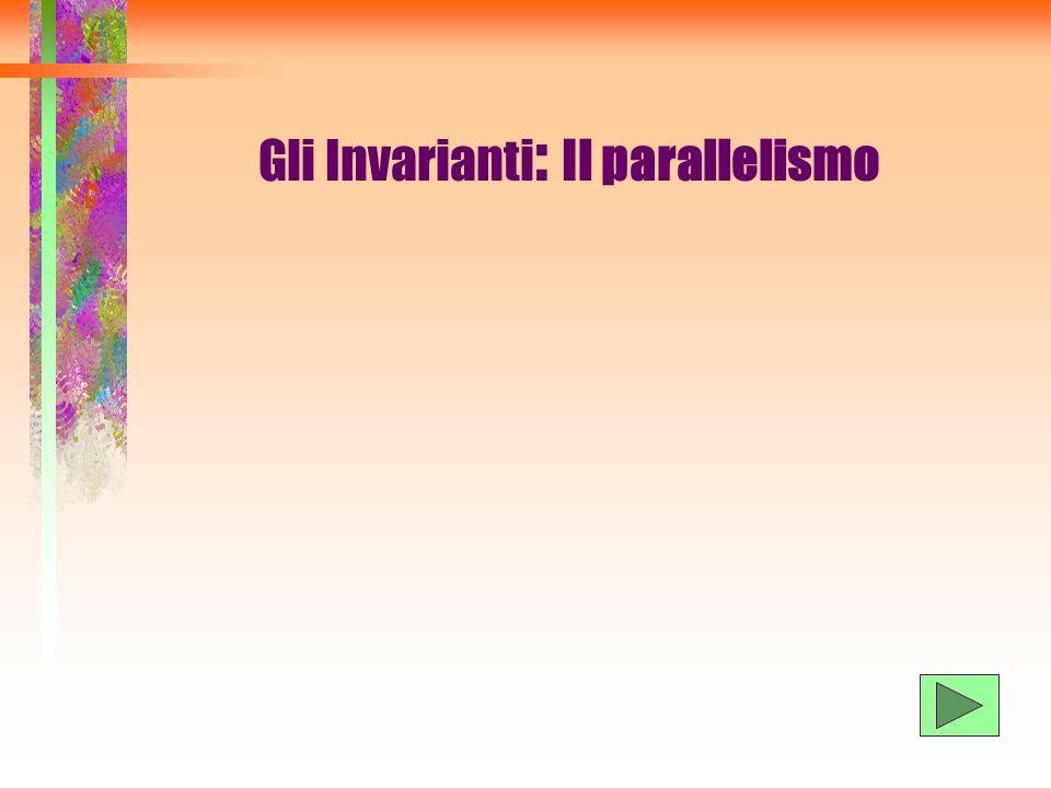 Gli Invarianti : Il parallelismo