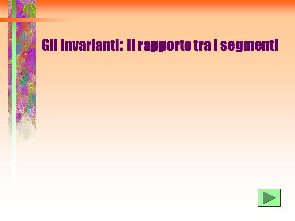 Gli Invarianti : Il rapporto tra i segmenti