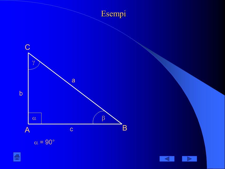 Esempi A B C = 90° a b c