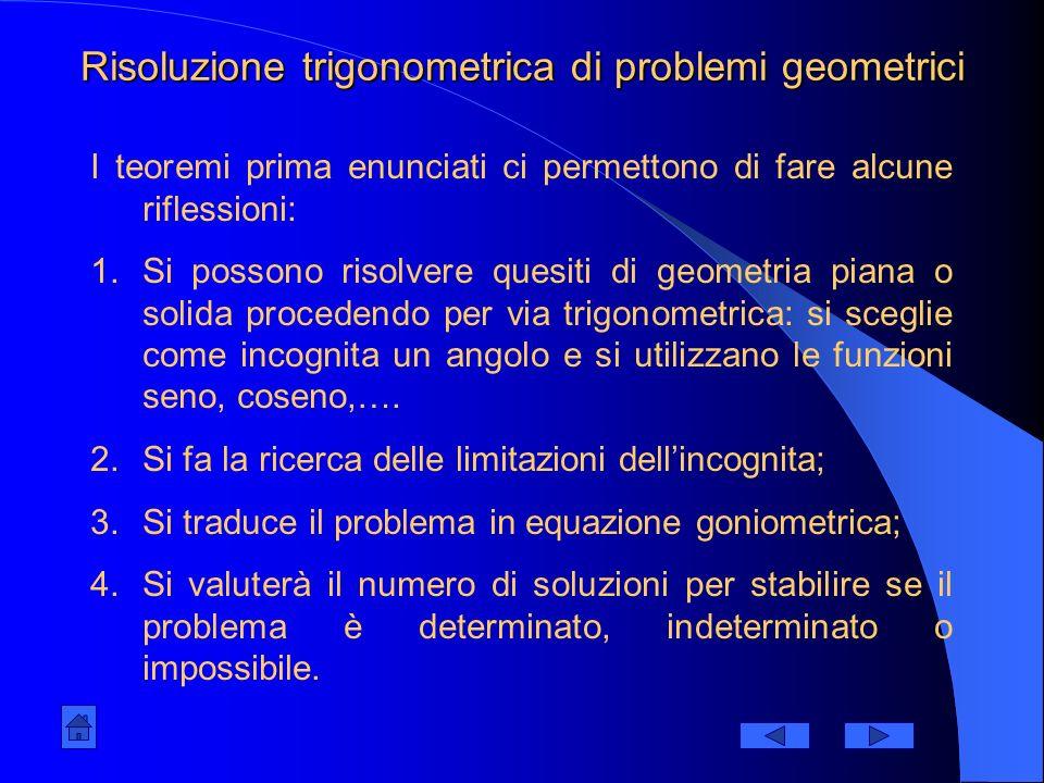 Risoluzione di un importante problema pratico Osserviamo la figura: h d Si misura con un teodolite;teodolite Si misura d Si calcola : 1)tg = h/d 2)h=