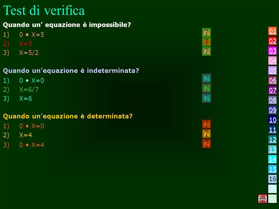Test di verifica Che cosa si intende per uguaglianza? 1)Unuguaglianza fra due espressioni letterali, è verificata per qualunque valore dato alle lette