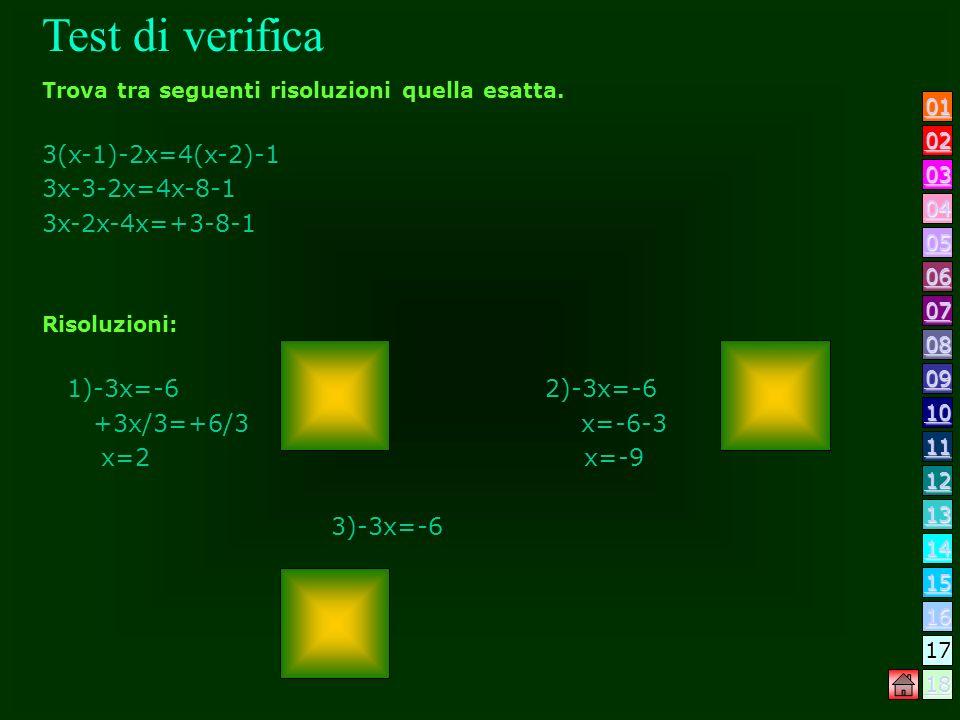 Quando un equazione è impossibile? 1) 1)0 X=5 2) 2)X=5 3) 3)X=5/2 Quando unequazione è indeterminata? 1) 1)0 X=0 2) 2)X=6/7 3) 3)X=6 Quando unequazion