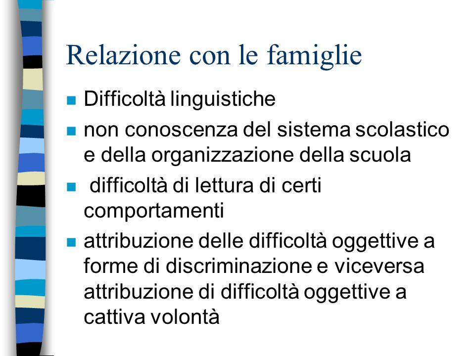 Individuazione della classe n Equilibrata distribuzione degli alunni stranieri (tenuto conto delle necessità delle famiglie che sono prioritarie) n si