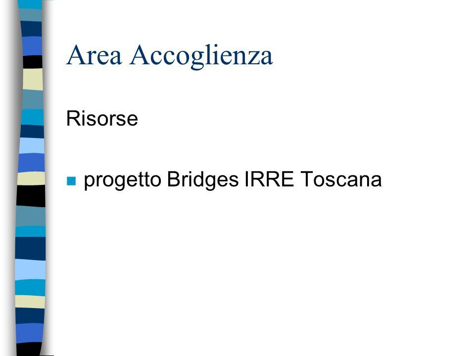 Area Accoglienza Risorse n progetto Bridges IRRE Toscana