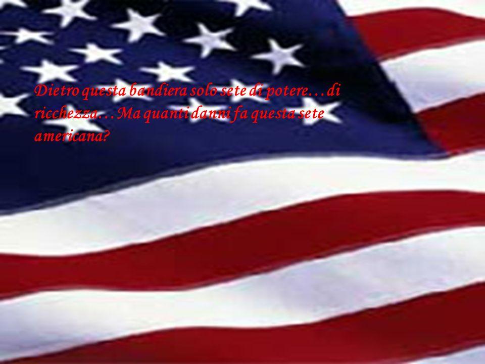Dietro questa bandiera solo sete di potere…di ricchezza…Ma quanti danni fa questa sete americana?
