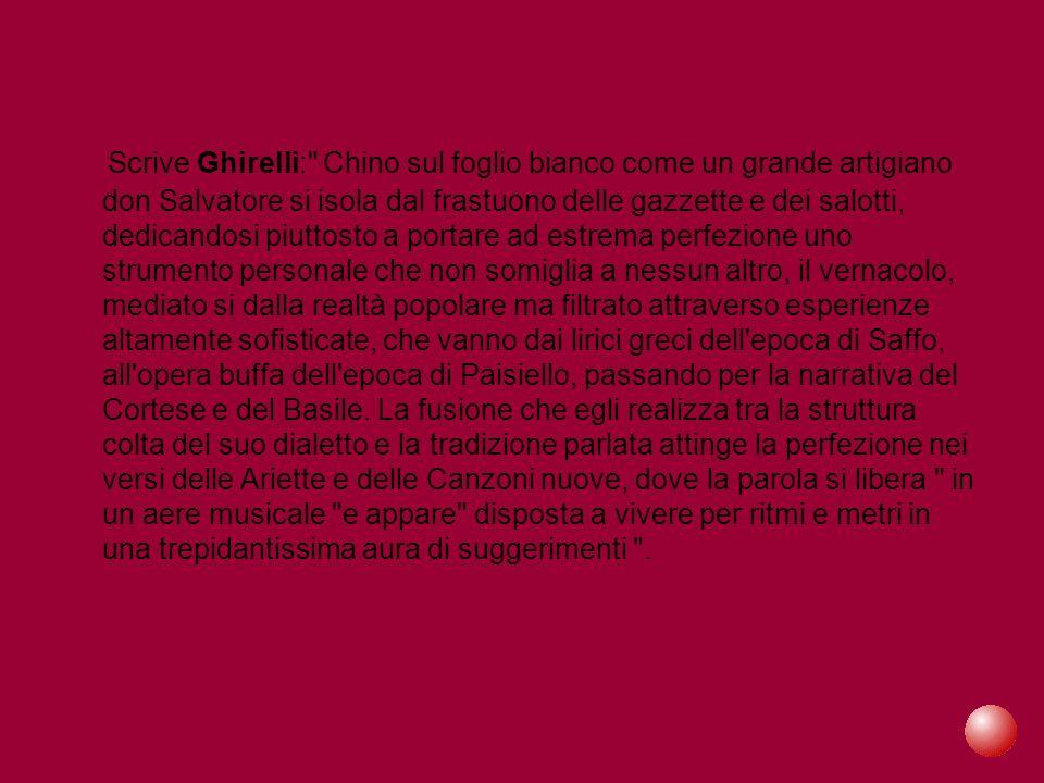 Scrive Ghirelli: