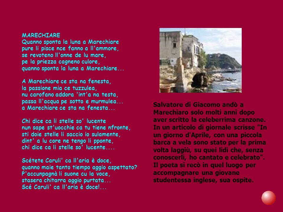 Salvatore Di Giacomo fa parte di quellesiguo numero di scrittori che rinnovarono la poesia in Italia.