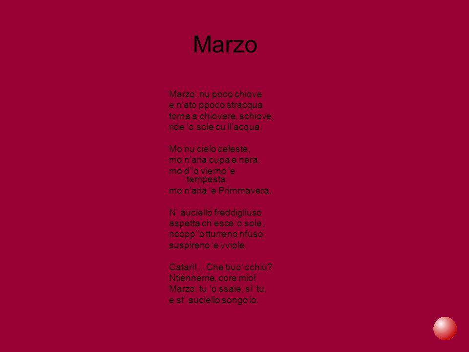 Dicono di lui … Max Vajro nella sua prefazione alla raccolta di poesie digiacomiane edite da Fausto Fiorentino: ...Di Giacomo ha scritto di Napoli tutto quello che un poeta poteva, componendo il più affascinante e dolente ritratto della città: cronache di tribunale, scene di silenziosa miseria, amori furenti e abbandoni, rappresentazioni dell amara vita dei fondaci,ricostruzioni di scene amabili del settecento; sonetti vivaci, talvolta maliziosi; canzoni divenute celeberrime ed emblematiche nel mondo, commedie e drammi, rievocazioni in prosa che hanno forza di poesia; ha narrato l amore delle donne perdute e delle madri, da Mese Mariano ad Assunta Spina ; la turpitudine della malavita; e l eleganza della classicità napoletana che da secoli riaffiora ogni volta che parole di poesia la interroghino, come se le sembianze di una città marmorea emergessero al canto delle sirene.