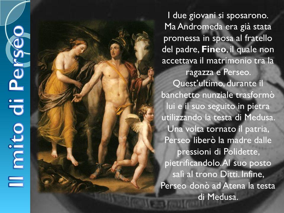 I due giovani si sposarono. Ma Andromeda era già stata promessa in sposa al fratello del padre, Fineo, il quale non accettava il matrimonio tra la rag
