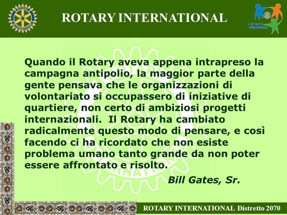 Quando il Rotary aveva appena intrapreso la campagna antipolio, la maggior parte della gente pensava che le organizzazioni di volontariato si occupassero di iniziative di quartiere, non certo di ambiziosi progetti internazionali.