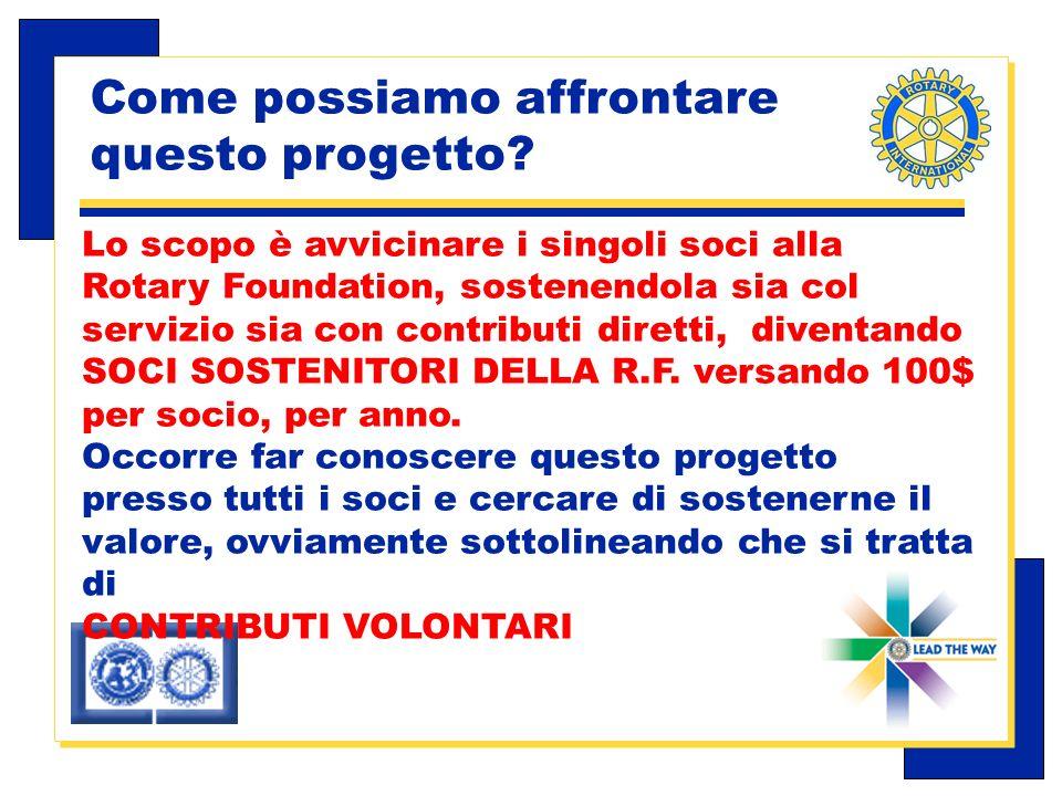 Carlo Michelotti, Gov.Distr.1980 (1996/97) Come possiamo affrontare questo progetto.