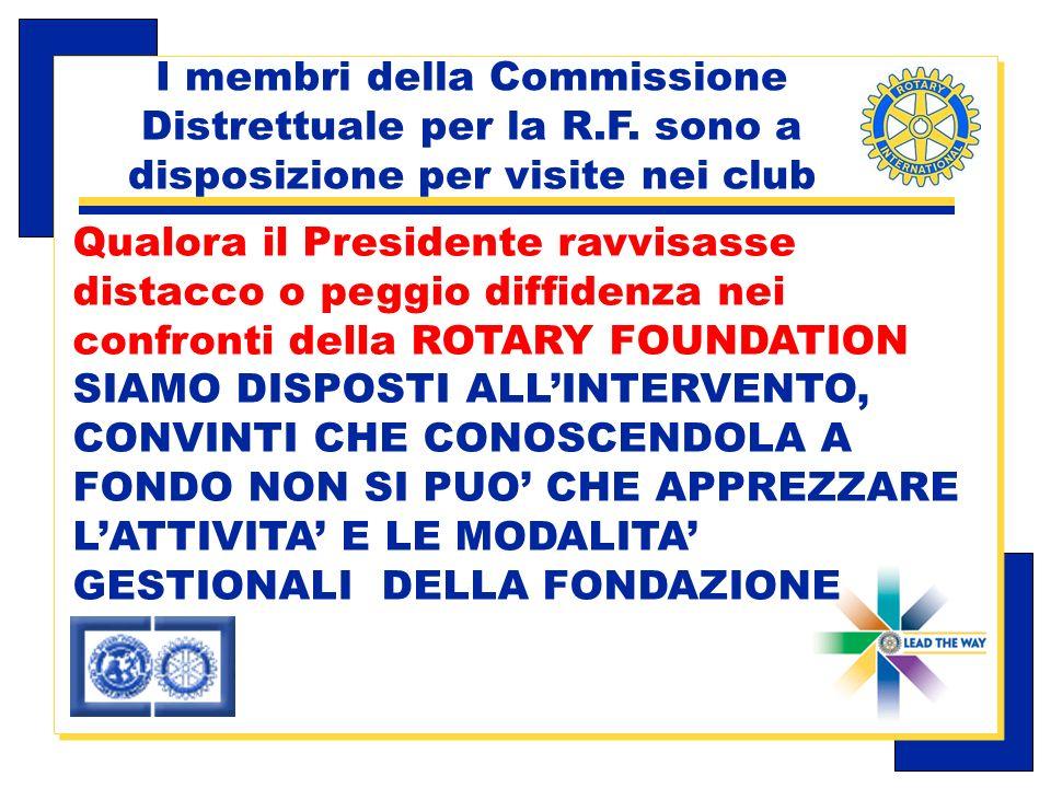 Carlo Michelotti, Gov.Distr.1980 (1996/97) I membri della Commissione Distrettuale per la R.F.