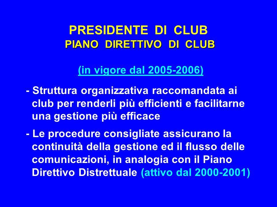 PIANO VISIONE FUTURA F.R.PRESIDENTE DI CLUB PIANO VISIONE FUTURA F.R.