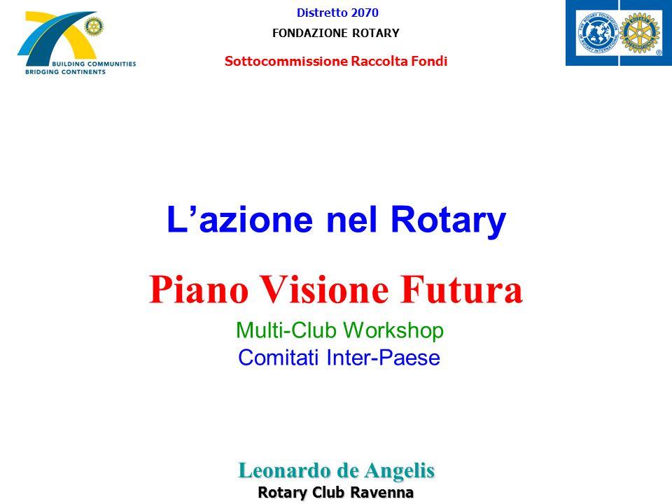 Lazione nel Rotary Piano Visione Futura Multi-Club Workshop Comitati Inter-Paese Distretto 2070 FONDAZIONE ROTARY Sottocommissione Raccolta Fondi Leon
