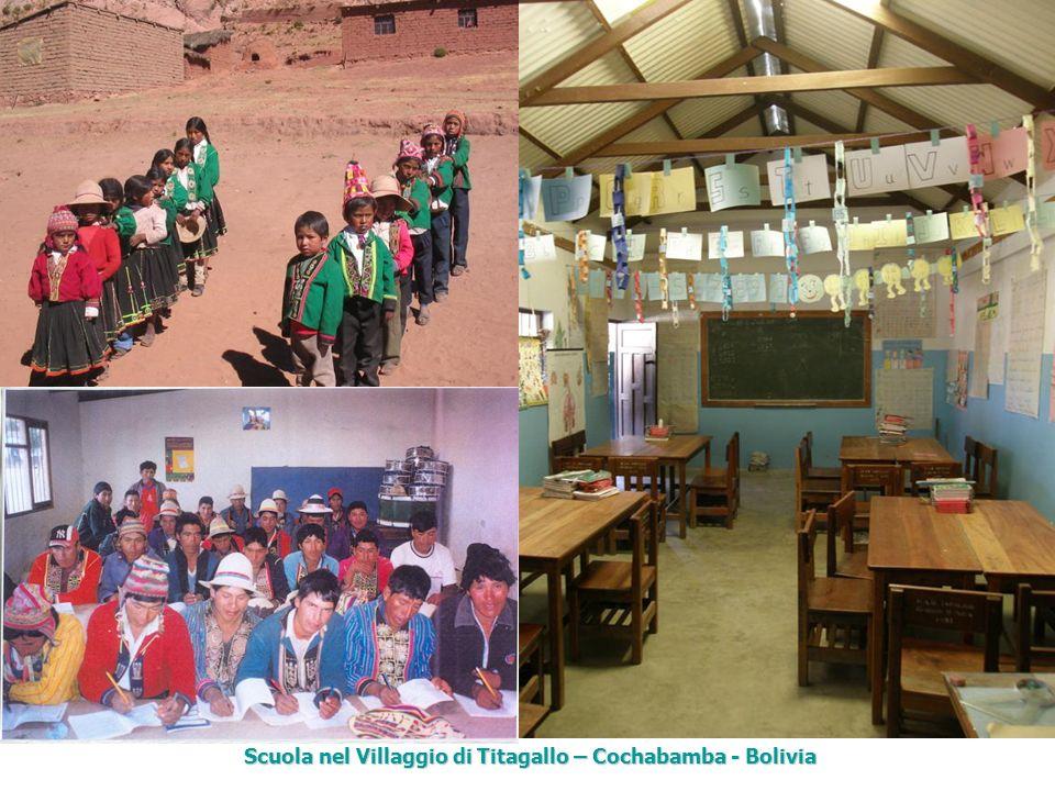 Scuola nel Villaggio di Titagallo – Cochabamba - Bolivia Scuola nel Villaggio di Titagallo – Cochabamba - Bolivia