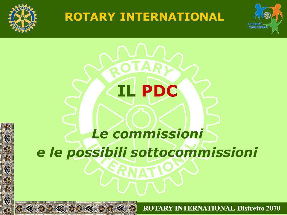 ROTARY INTERNATIONAL IL PDC Le commissioni e le possibili sottocommissioni