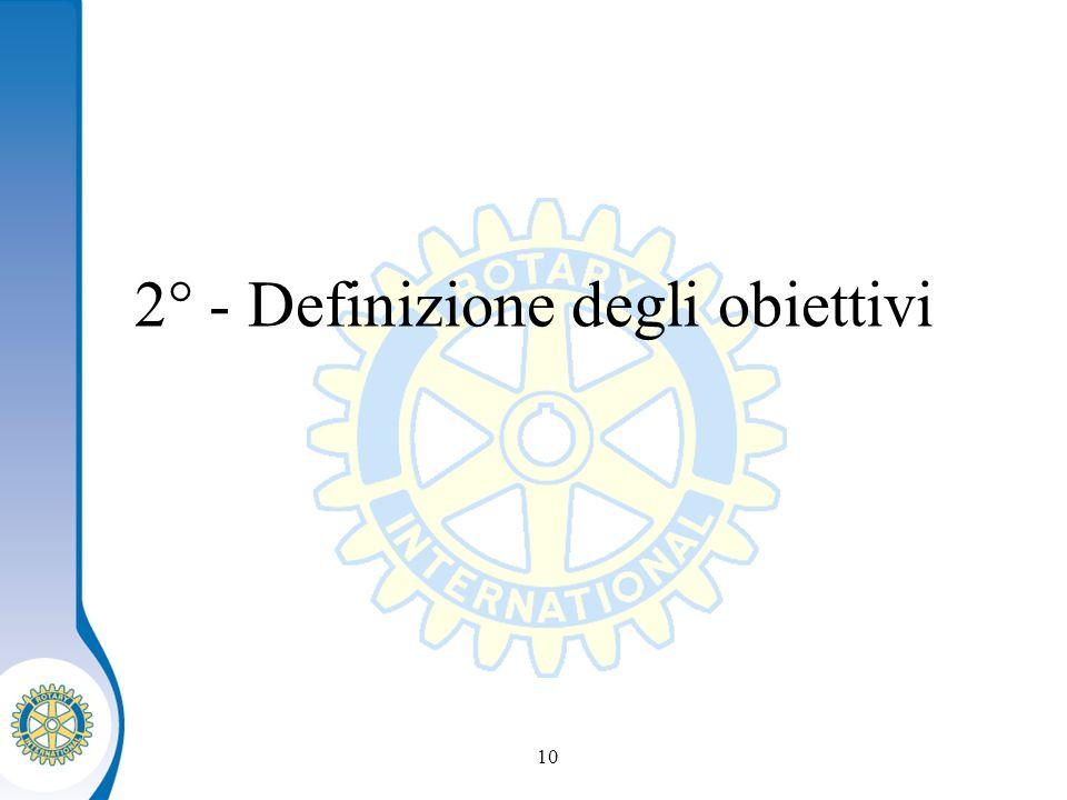 Distretto XXXX Seminario distruzione dei presidenti eletti 10 2° - Definizione degli obiettivi