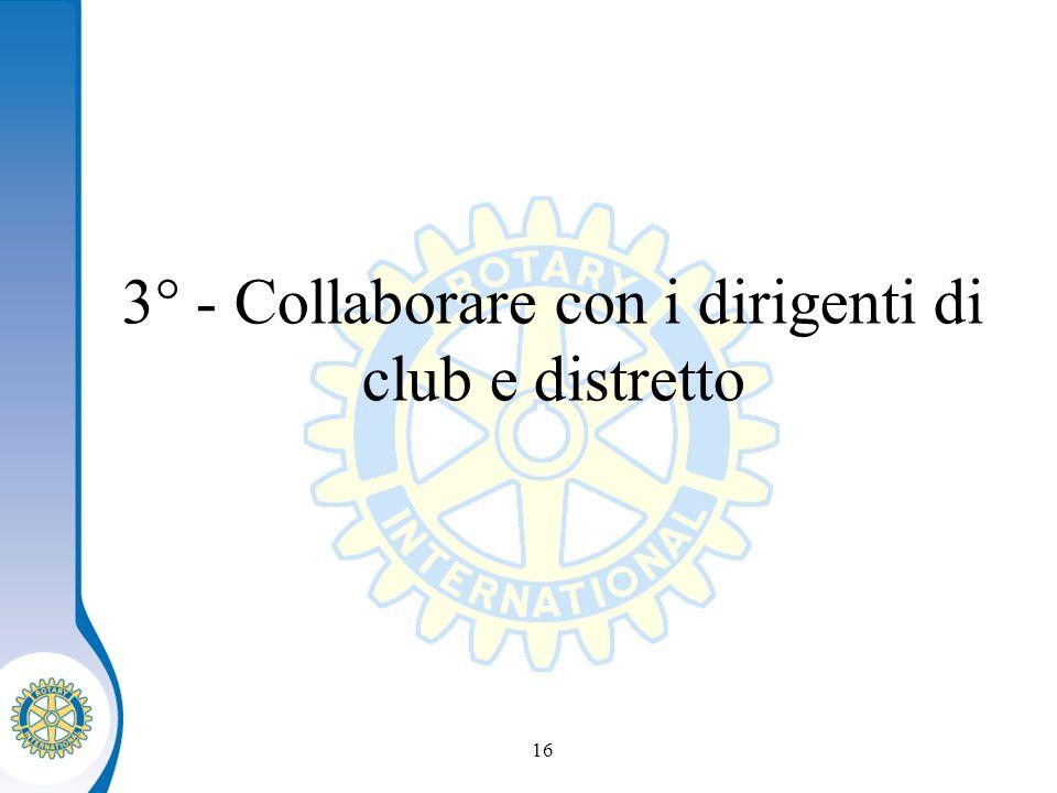 Distretto XXXX Seminario distruzione dei presidenti eletti 16 3° - Collaborare con i dirigenti di club e distretto