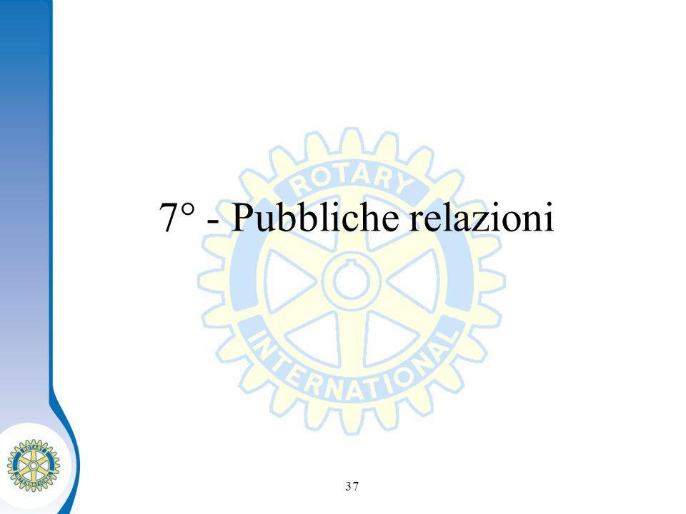 Distretto XXXX Seminario distruzione dei presidenti eletti 37 7° - Pubbliche relazioni