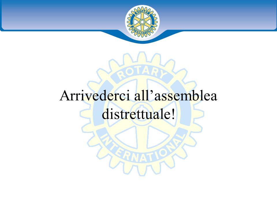 Distretto XXXX Seminario distruzione dei presidenti eletti 42 Arrivederci allassemblea distrettuale!