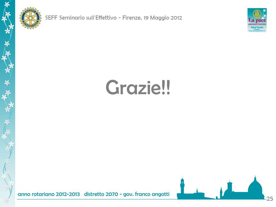 SEFF Seminario sull Effettivo - Firenze, 19 Maggio 2012 25 Grazie!!