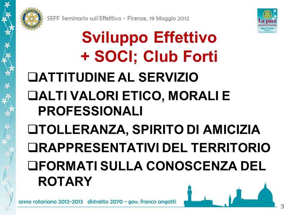 SEFF Seminario sull'Effettivo - Firenze, 19 Maggio 2012 33 ATTITUDINE AL SERVIZIO ALTI VALORI ETICO, MORALI E PROFESSIONALI TOLLERANZA, SPIRITO DI AMI
