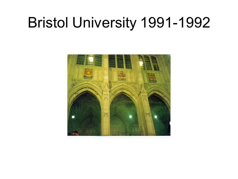 Bristol University 1991-1992