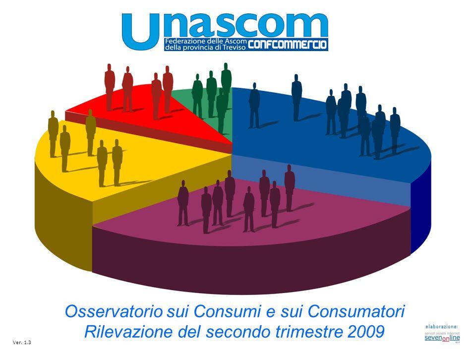 Osservatorio sui Consumi e sui Consumatori Rilevazione del secondo trimestre 2009 elaborazione: Ver. 1.3