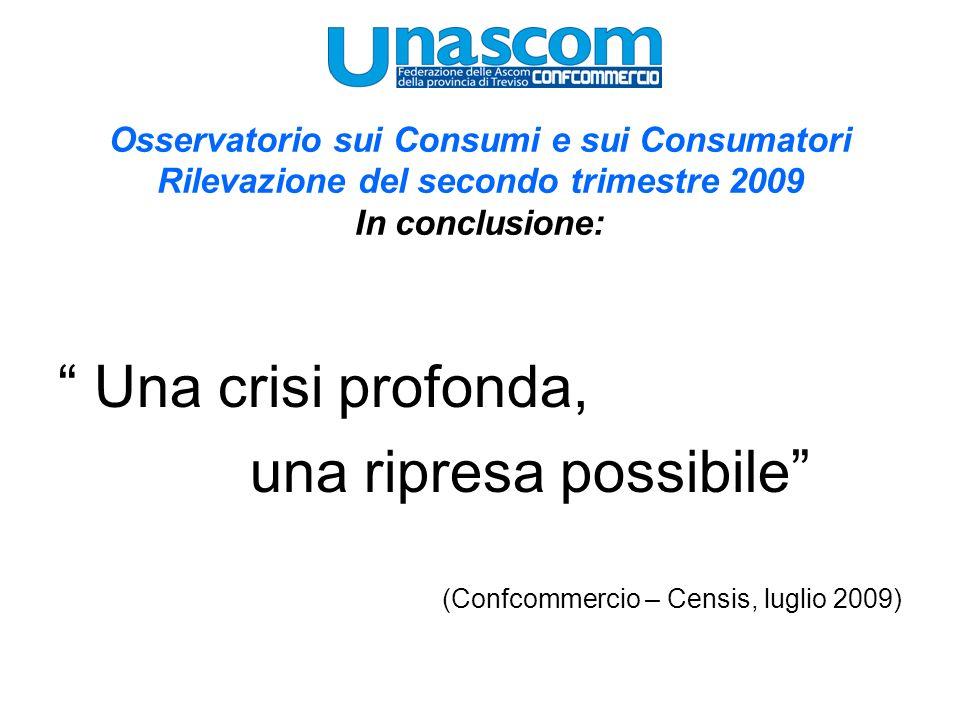 Osservatorio sui Consumi e sui Consumatori Rilevazione del secondo trimestre 2009 In conclusione: Una crisi profonda, una ripresa possibile (Confcomme