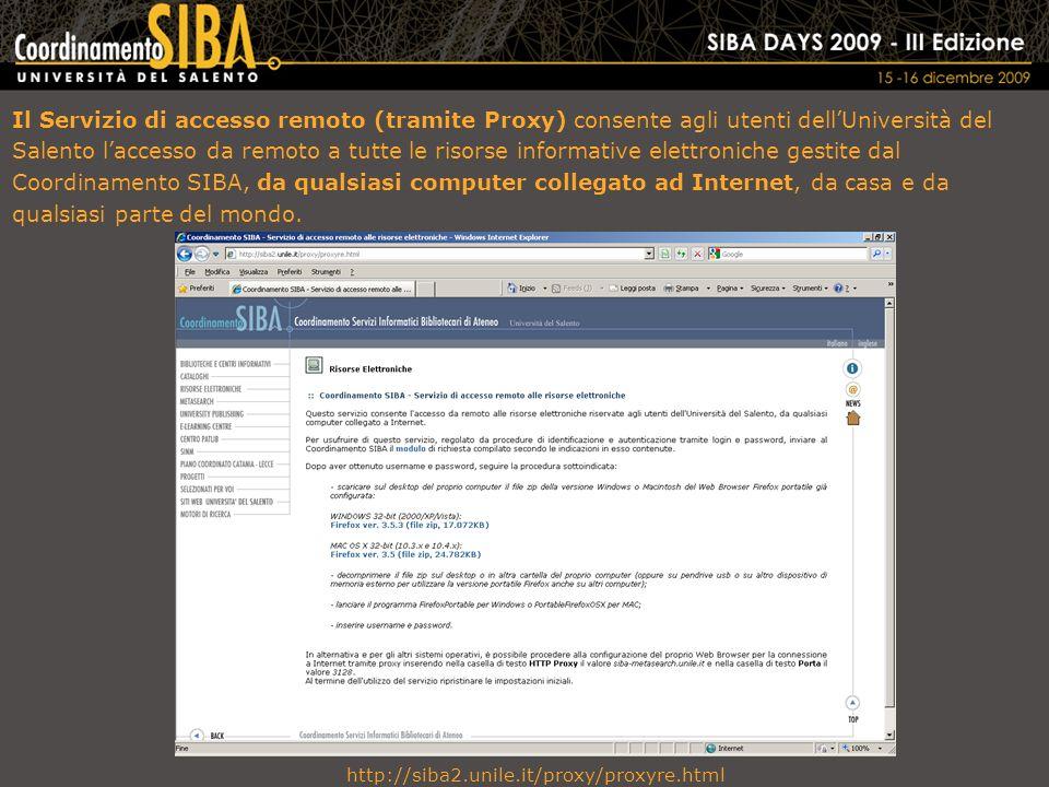 Home page SIBA – Info
