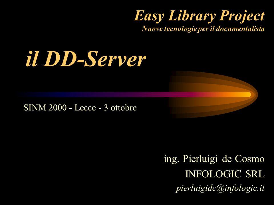 Chi è lutente del DD-Server Consorzi di Biblioteche Enti attenti alle esigenze di copyright Aziende interessate ai servizi di distribuzione a pagamento