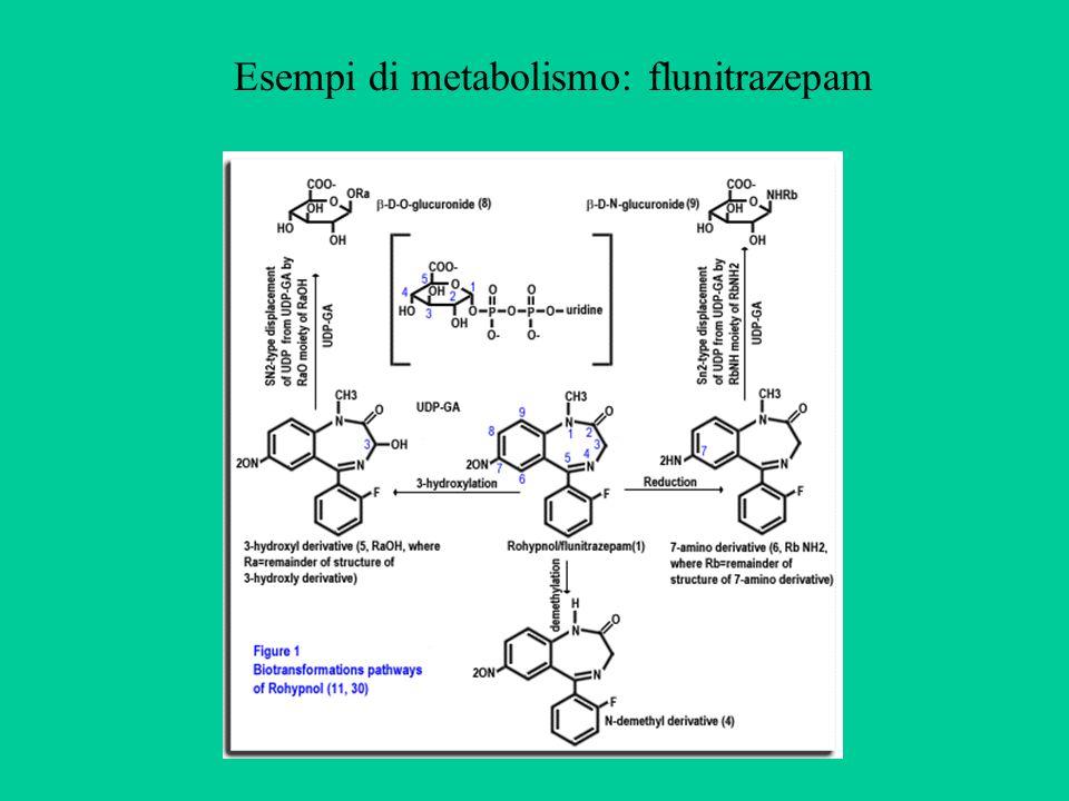 Esempi di metabolismo: flunitrazepam