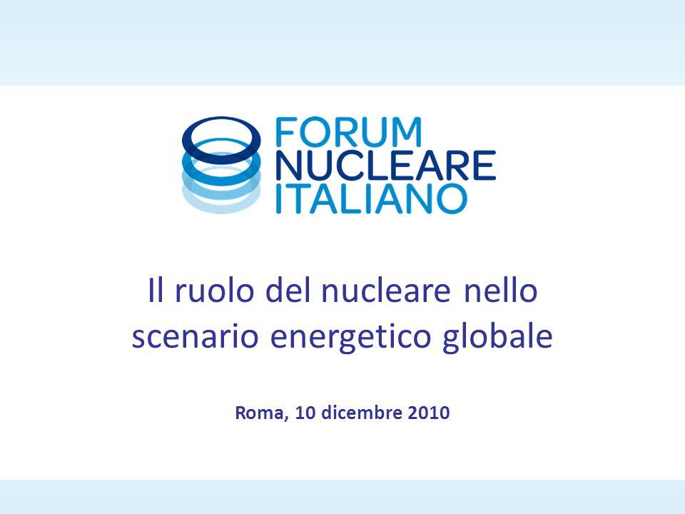 Roma, 10 dicembre 2010 Il ruolo del nucleare nello scenario energetico globale