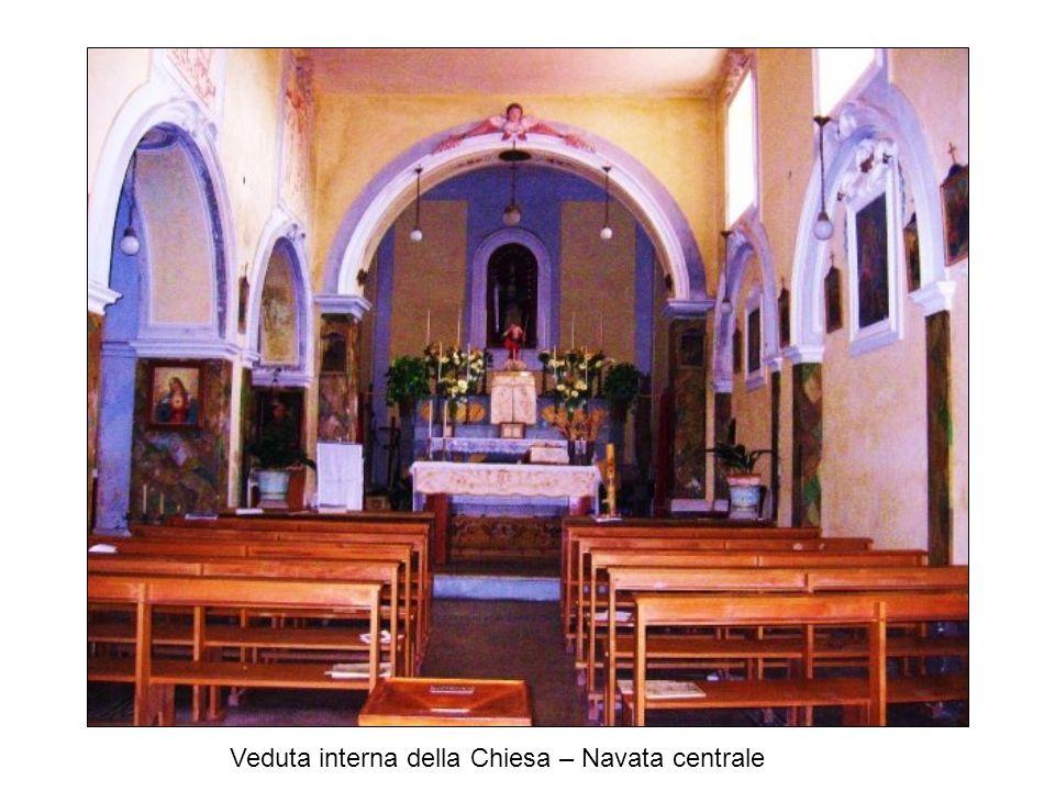 Veduta interna della Chiesa – Navata centrale