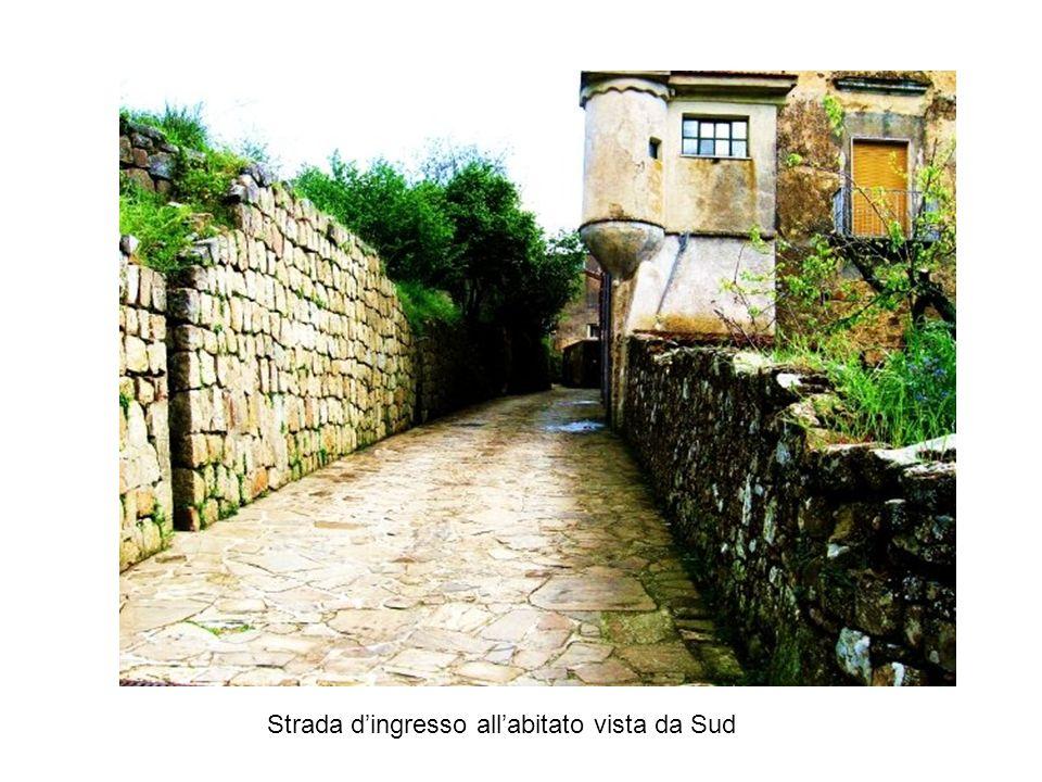 Strada dingresso allabitato vista da Sud